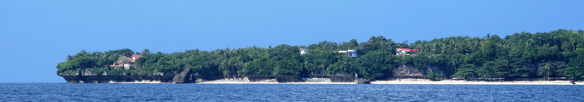 View of Padre Burgos Castle Resort from the sea